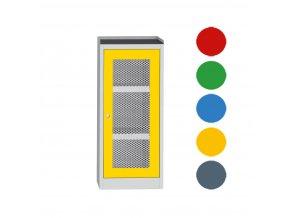 Skriňa na chemikálie, drôtené dvere, 1180 x 505 x 500 mm