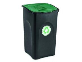 kos na trideni odpadu 50 litru ecogreen zelene viko