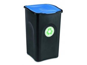 kos na trideni odpadu 50 litru ecogreen modre viko
