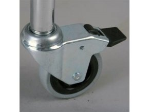 kolo pro chromovane regaly 80 mm s brzdou