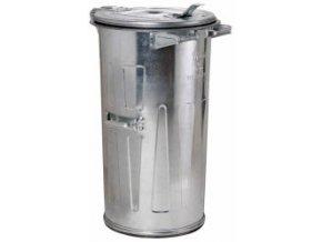 Kovová popolnice 110 litrov, pozinkovaná, plech 1 mm
