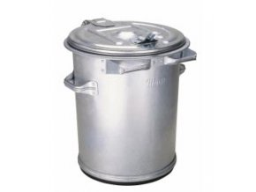 Kovová popolnice 70 litrov, pozinkovaná, plech 0,8 mm