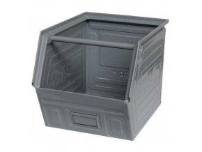 Kovový box skosený 30 x 40 x 30 cm, šedá