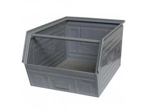 Kovový box skosený 30 x 60 x 40 cm, šedá
