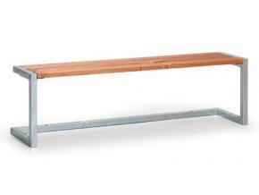 Lavička bez operadla - typ A - 1,5 metra