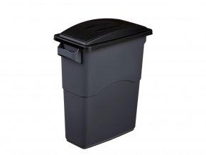 Nádoba na Triedenie odpadu 60 litrov + čierne veko s madlom