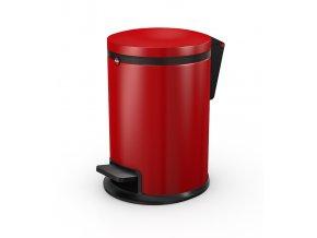 Nášľapný kozmetický kôš Hailo Pure.S, 3 litre, červený lak