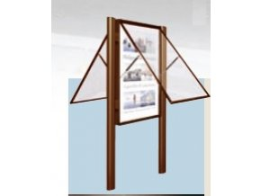 Obojstranná vonkajšia vitrína 1350 x 1710 mm, hĺbka 75 mm (bezpečnostné sklo)