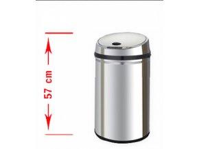 Odpadkový kôš bezdotykový Margo 30 litrov - strieborné veko