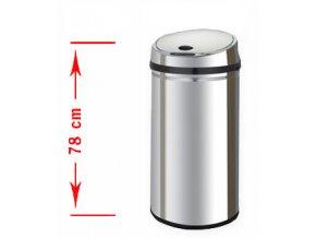 Odpadkový kôš bezdotykový Margo 42 litrov - strieborné veko