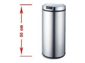 Odpadkový kôš bezdotykový Stilo 30 litrov - strieborné veko