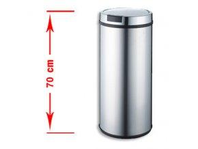 Odpadkový kôš bezdotykový Stilo 42 litrov - strieborné veko