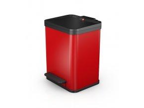 Odpadkový kôš Hailo na triedený odpad 2 × 9 litrov - červený lak