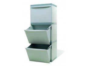 Odpadkový kôš na triedený odpad - 3 × 30 litrov