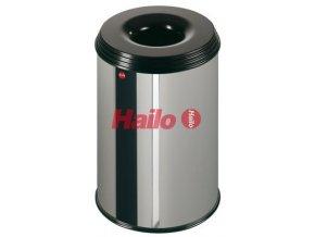 Odpadkový kôš samohasiace ProfiLine, 30 litrov, nerez
