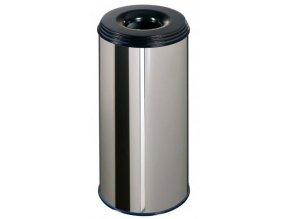 Odpadkový kôš samohasiace ProfiLine, 50 litrov, nerez