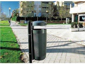 Odpadkový kôš vonkajšie 50 litrov zelený