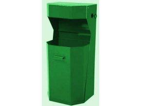 Odpadkový kôš vonkajšie, štandardné - zelený