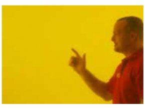 Ochranné závesy, transparentné žltý, š 1,4 m, v 1,8 až 2,8 m