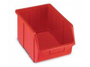 Plastová krabička 167 x 220 x 355, červená, bal.j.10 ks