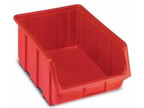 Plastová krabička 187 x 333 x 505, červená, bal.j.4 ks