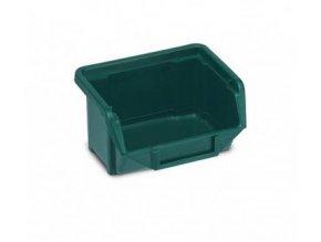 Plastová krabička 53 × 109 × 100, zelená, bal.j.40 ks
