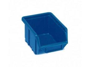 Plastová krabička 76 × 111 × 168, modrá, bal.j.60 ks