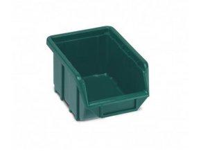 Plastová krabička 76 × 111 × 168, zelená, bal.j.60 ks