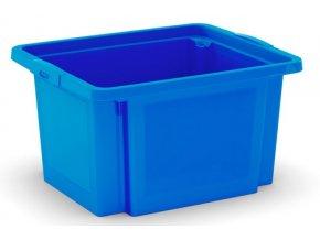 Plastová prepravka, 23 l, modrá