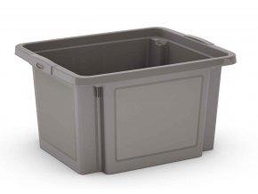 Plastová prepravka, 23 l, sivá
