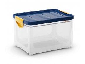 Plastový úložný box s vekom na klip, 19,5 l