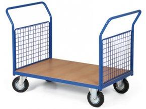 Plošinový vozík, dve drôtená madlá, 200 kg, kolesá 125 mm