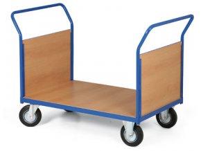 Plošinový vozík, dve plná madlá, 400 kg