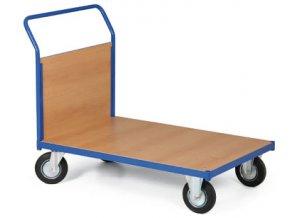 Plošinový vozík, jedno madlo plné, 200 kg, koleso 160 mm