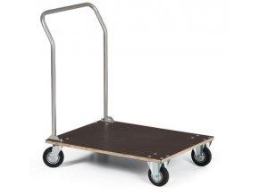 Plošinový vozík, vodeodolná preglejka, 100 kg