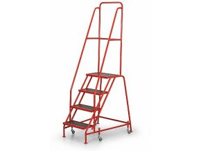 Pojazdný rebrík s plošinou, 4 stupne