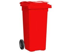 Popolnice 120 litrov červená
