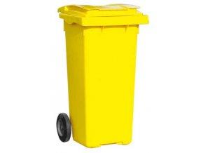 Popolnice 120 litrov žltá