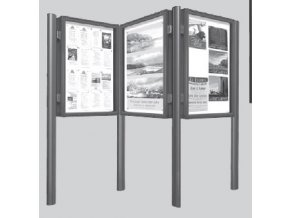Stĺpik na zostavenie vitrín hĺbky 75 mm a výšky 1350 mm