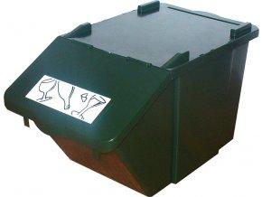 Stohovateľný nádoba na triedený odpad - zelená