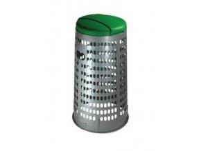 Stojan ECO na odpadkové vrecia s vekom, 120 litrov, zelený