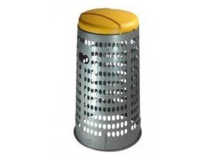 Stojan ECO na odpadkové vrecia s vekom, 120 litrov, žltý