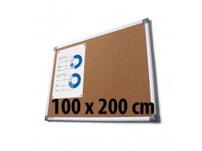 Tabuľa korková, 100 x 200 cm