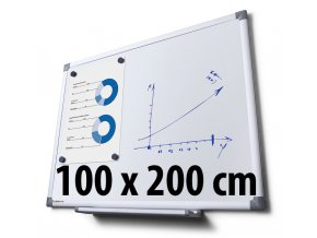 Tabuľa magnetická, 100 x 200 cm