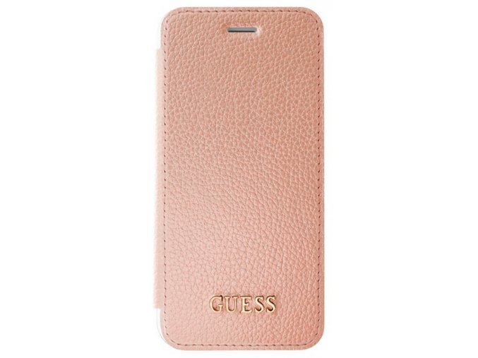 Guess IriDescent Book pouzdro iPhone 7/8,Rose Gold