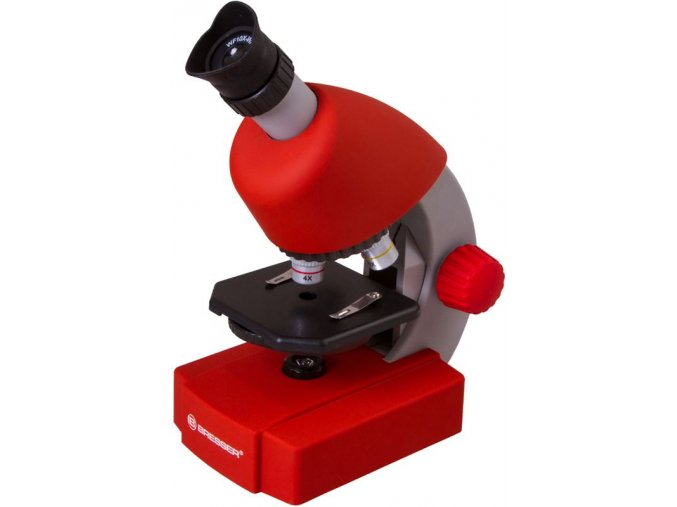 Bresser Junior 40x-640x Microscope, red