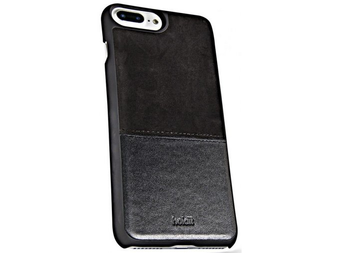 HOLDIT Case iPhone 6s+/7+/8+ -Black Leather/Suede