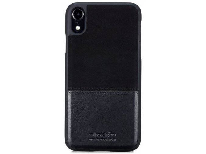 HOLDIT Case iPhone XR -Black Leather/Suede
