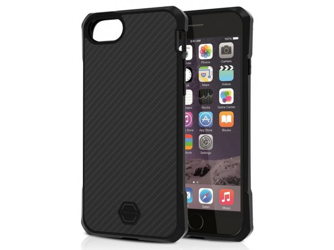 ITSKINS Atom DLX iPhone 6/6S/7/8/SE 2020, Black