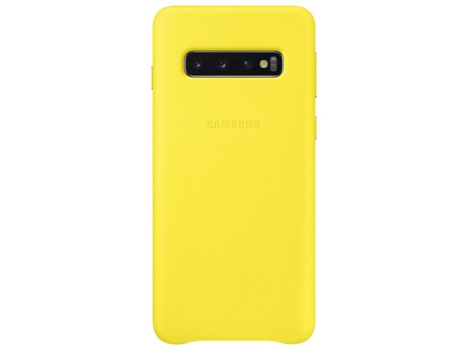 Samsung EF-VG973LY Leather Cover Galaxy S10,Yellow